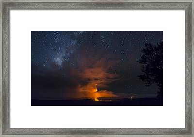 Flame Thrower Framed Print by Sean King