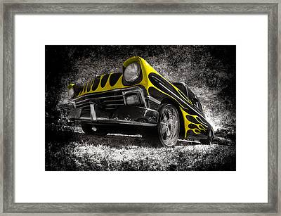 Flamed Chevrolet Bel Air Framed Print by motography aka Phil Clark