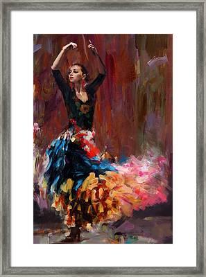 Flamenco 50 Framed Print by Maryam Mughal