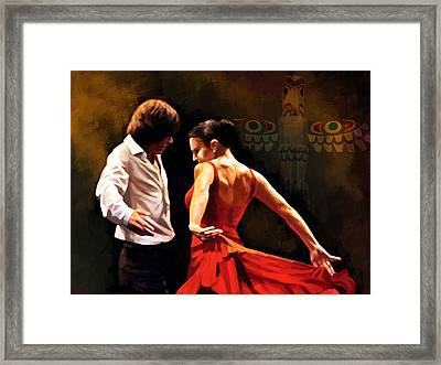 Flamenco Dancer 012 Framed Print by Catf