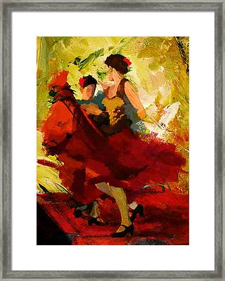 Flamenco Dancer 019 Framed Print by Catf