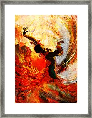 Flamenco Dancer 021 Framed Print by Mahnoor Shah