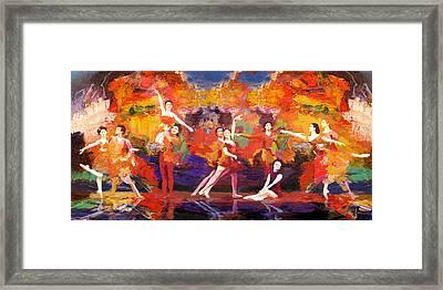 Flamenco Dancer 022 Framed Print by Catf