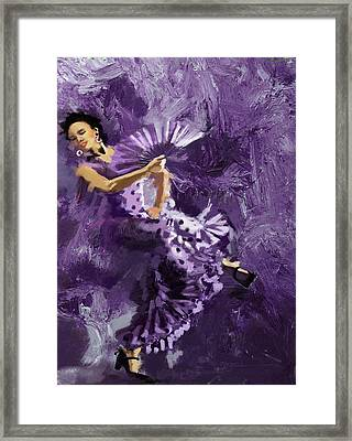 Flamenco Dancer 023 Framed Print by Catf