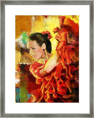 Flamenco Dancer 027 Framed Print by Catf