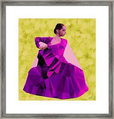 Flamenco Dancer In Spain Framed Print by Bruce Nutting