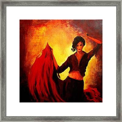 Flamenco Dancer Framed Print by Patricia Awapara
