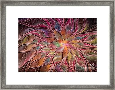 Flames Of Happiness Framed Print by Deborah Benoit