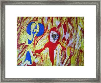 Flames Framed Print by Trevor R Plummer