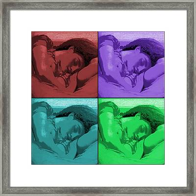 Flaming June Revisited  Framed Print by Richard Reeve