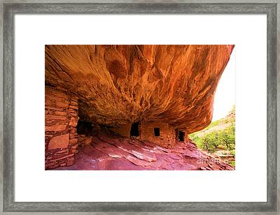 Flaming Ruins Framed Print by Adam Jewell