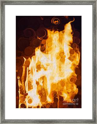 Flaming Waters Framed Print by Omaste Witkowski