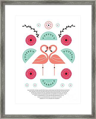 Flamingo Flutter Framed Print by Susan Claire