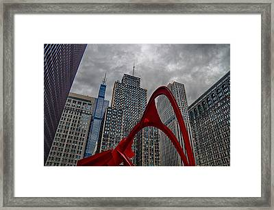 Flamingo In Federal Plaza Framed Print by Mike Burgquist