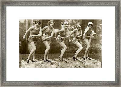 Flapper Girls Framed Print by Jon Neidert
