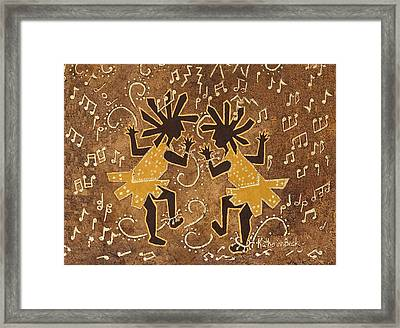 Flappers Framed Print by Katherine Young-Beck