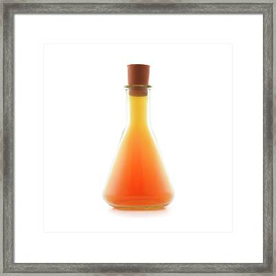 Flask Containing Bromine Framed Print by Science Photo Library