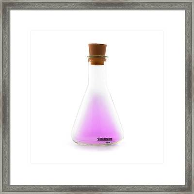 Flask Containing Iodine Framed Print by Science Photo Library