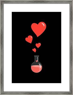 Flask Of Hearts Framed Print by Boriana Giormova