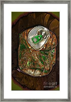 Flat Beer Framed Print by Luc  Van de Steeg