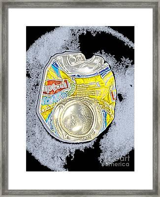 Flat Ice Can Framed Print by Luc  Van de Steeg