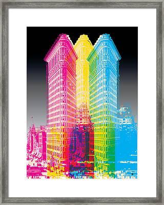 Flat Iron Pop Art Framed Print by Gary Grayson