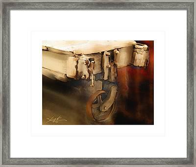 Flatbed Trolley Framed Print by Bob Salo