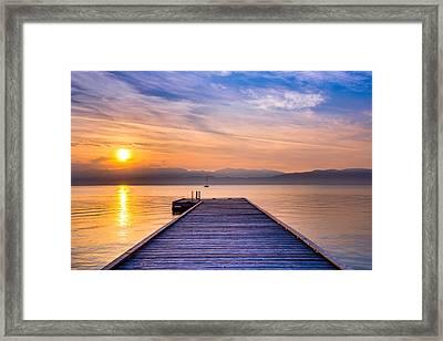Flathead Lake Sunrise Framed Print by Adam Mateo Fierro