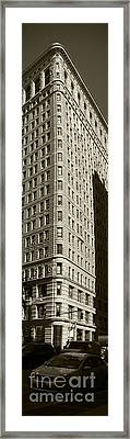 Flatiron In Sepia Framed Print by David Bearden