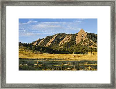 Flatirons From Chautauqua Park Framed Print by James BO  Insogna