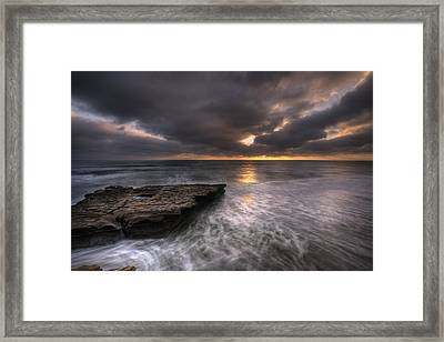 Flatrock Framed Print by Peter Tellone