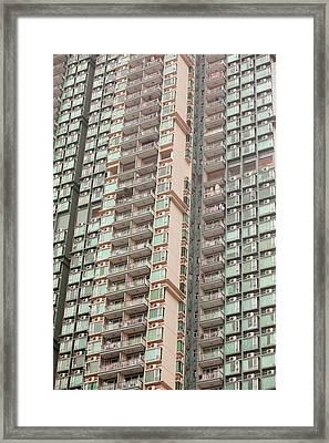Flats In Kowloon Framed Print by Ashley Cooper