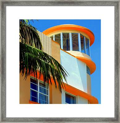 Flavour Of Miami Framed Print by Karen Wiles