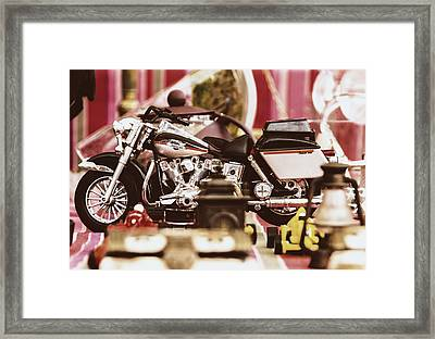 Flea Market Series - Motorcycle Framed Print by Marco Oliveira