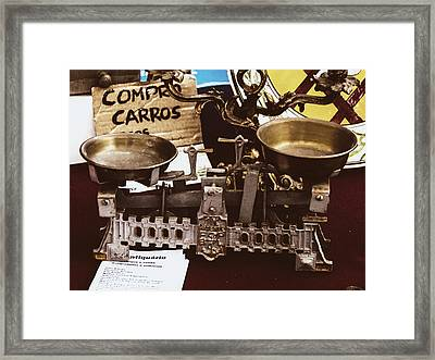 Flea Market Series - Two-pan Balance Framed Print by Marco Oliveira