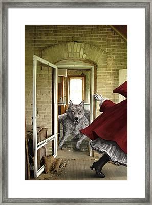 Flee Framed Print by Mark Zelmer