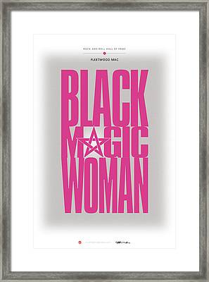 Fleetwood Mac - Black Magic Woman Framed Print by David Davies