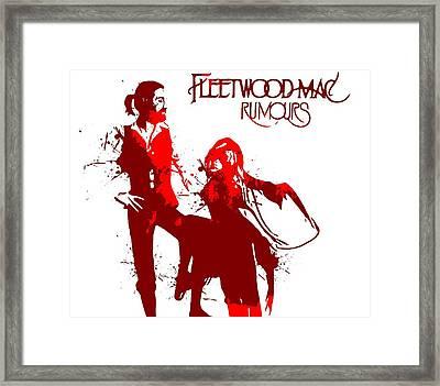 Fleetwood Mac Rumours Framed Print by Dan Sproul
