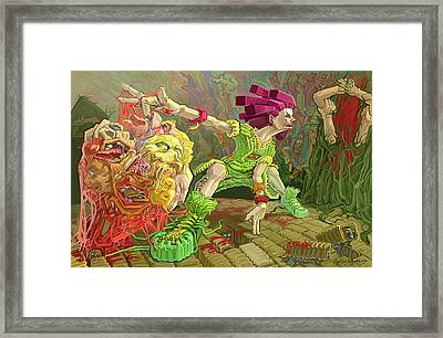 Flesh Ball Why Is Everything Alive Framed Print by Augustinas Raginskis