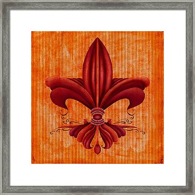 Fleur De Lys Framed Print by Brenda Bryant