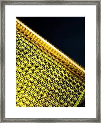 Flexible Electronic Circuit Framed Print by Professor John Rogers, University Of Illinois