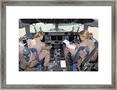 Flight Captains Review Flight Framed Print by Stocktrek Images