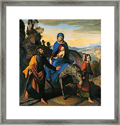 Flight Into Egypt Framed Print by Mountain Dreams