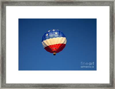 Flight Of The Patriot Framed Print by Mike  Dawson