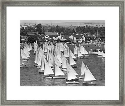 Flight Of The Snowbirds Race Framed Print by Underwood Archives