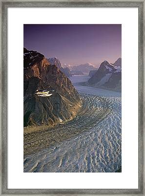 Flight Over Ruth Gorge - 302fp Aa0037 002 Framed Print by Jeff Schultz