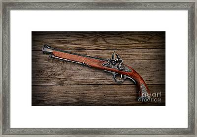 Flintlock Blunderbuss Pistol 1 Framed Print by Paul Ward