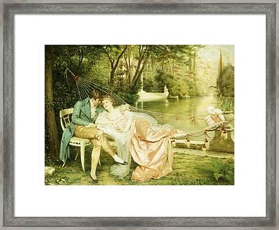 Flirtation  Framed Print by Joseph Frederick Charles Soulacroix