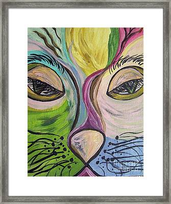Flirty Feline ... Cat Eyes Framed Print by Eloise Schneider
