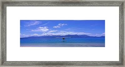 Float Plane Hope Island Great Barrier Framed Print by Panoramic Images